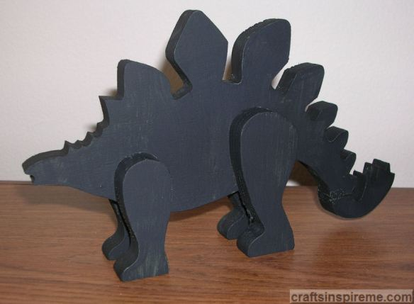 Dinosaur Painted Black