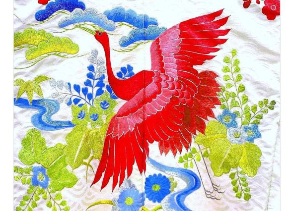 Embroidered Japanese Kimono