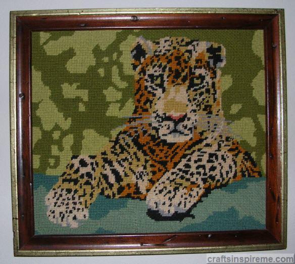 Needlepoint Leopard