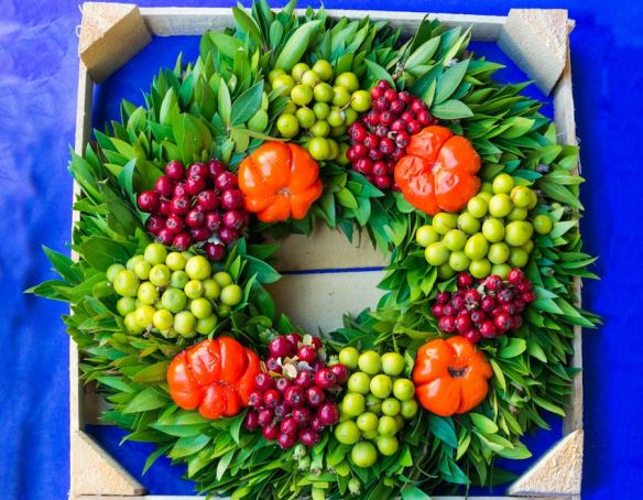 Berries & Peppers Wreath
