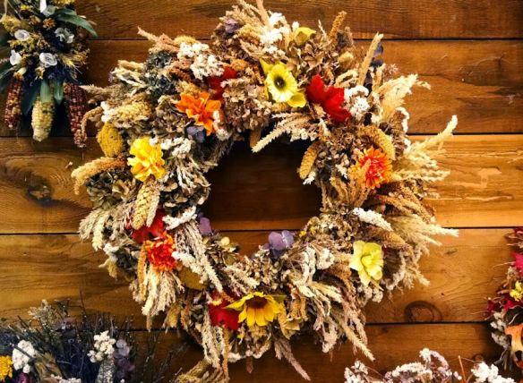Wreath Wheat Flowers