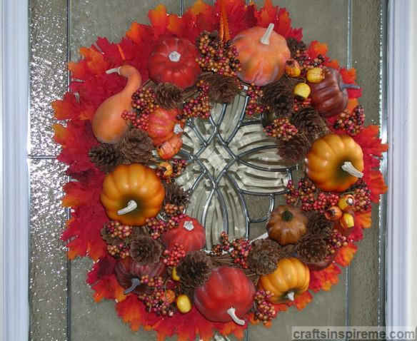 Gourds Pumpkins Wreath
