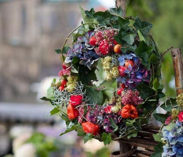Floral Veggie Wreath