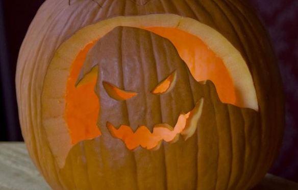Scary Ghost Pumpkin