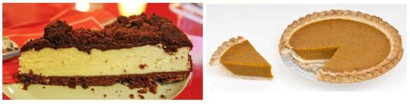 Chocolate Coffee Cheesecake Pumpkin Pie