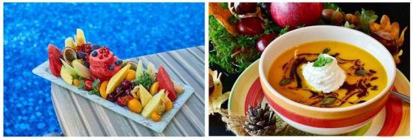 Fresh Fruit & Hot Soup