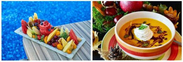 Fresh Fruit & Hot Soup