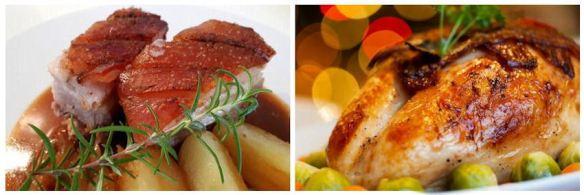 Roast Pork & Roast Turkey