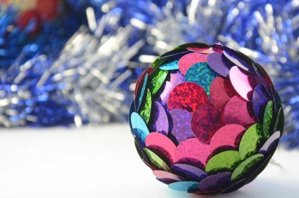 Sequined Flower Ornament