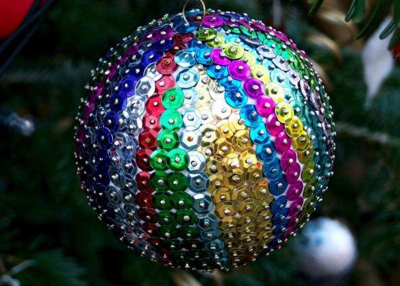 Rainbow Sequin Ornament