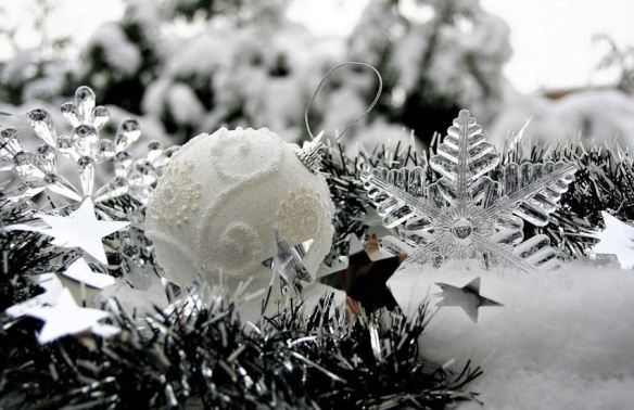 White Textured Ornament