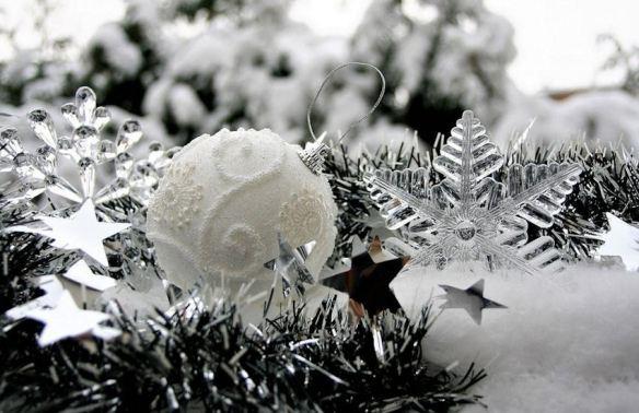 White Textured Ornament