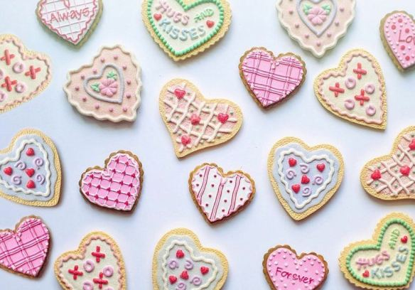 Decorated Valentine's Cookies