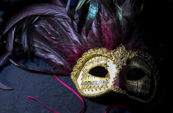 Venice Purple & Gold Mask