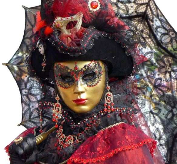 Venice Red Black Gold Costume