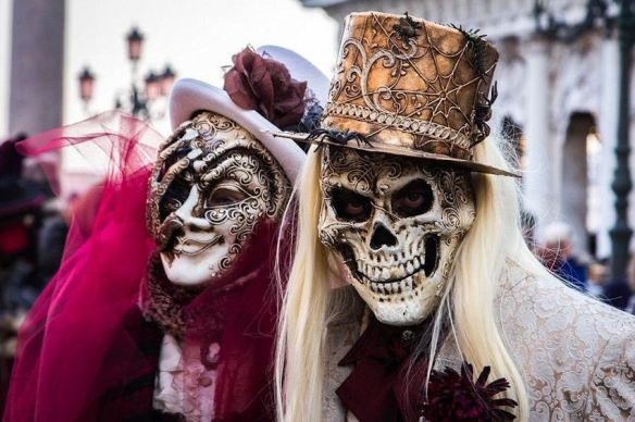 Venetian Skeleton Masks