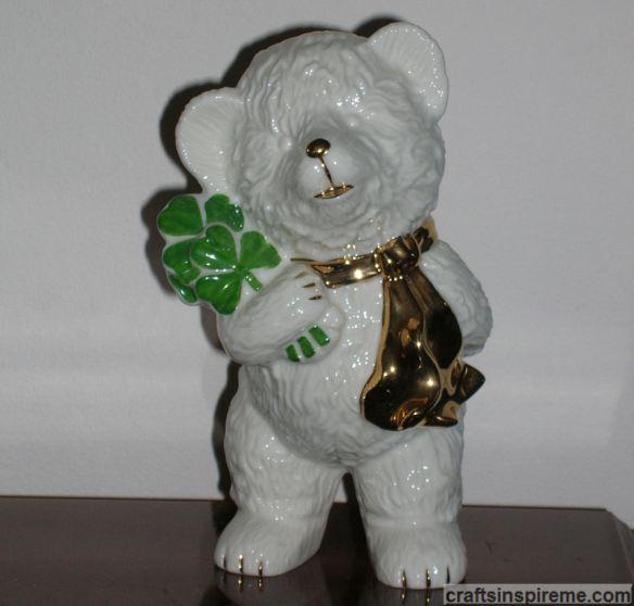 Ceramic Irish Bear