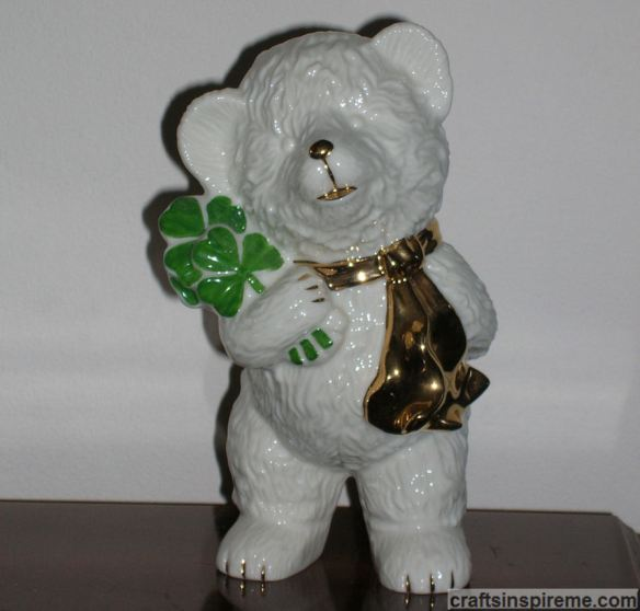 Ceramic Irish Bear