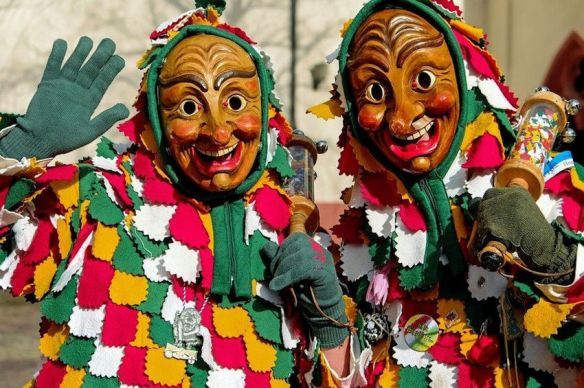 Carnival Germany Wooden Masks