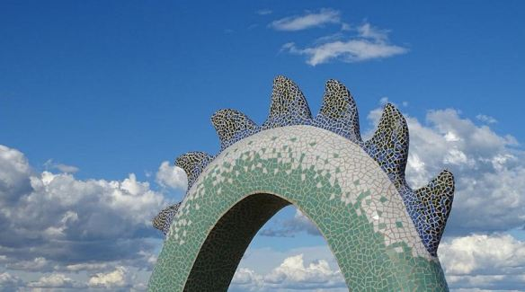 Mosaic Dragon Sculpture