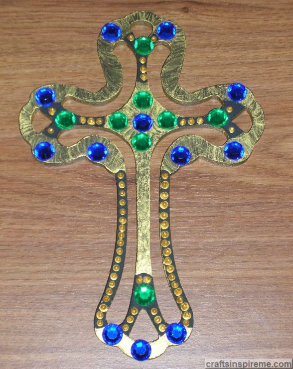 Gold Cross Jeweled Option 2