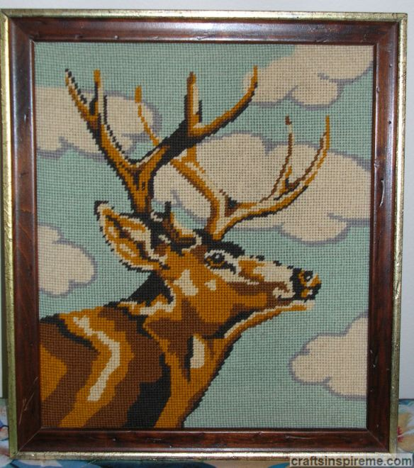 Needlepoint Deer