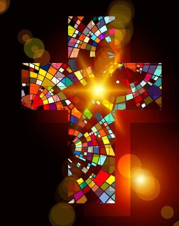 Stained Glass Contemporary Cross