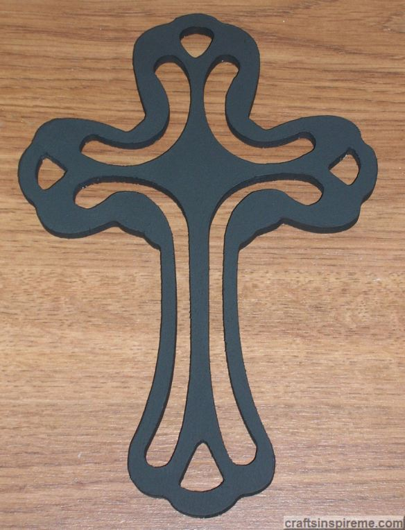 Cross with 2 Coats Black Paint