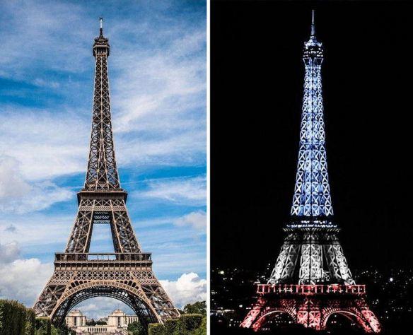Eiffel Tower Day & Night