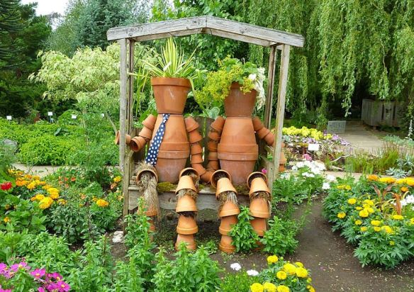His & Hers Garden Pots