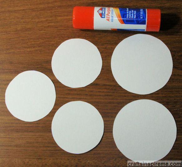 Cardstock Circles & Glue