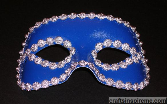 Blue Mask with Rhinestones