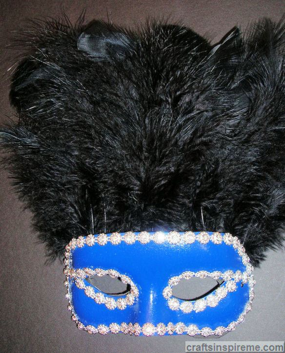 Finished Feathered Mask