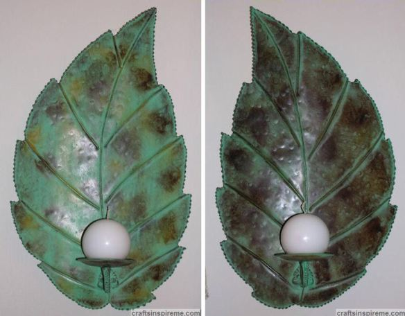 Original Metal Leaf Wall Sconces