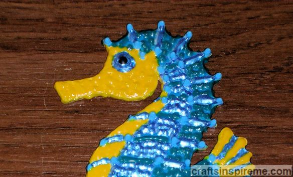 3D Painted Seahorse