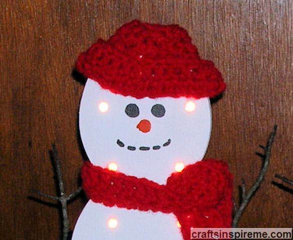 Fashionable Snowman with Lights