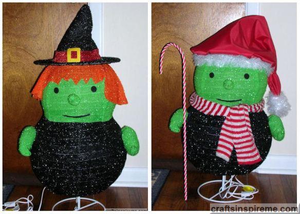 Halloween Witch vs. Christmas Elf