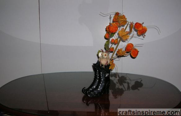 Witch Boots with Floral Stems