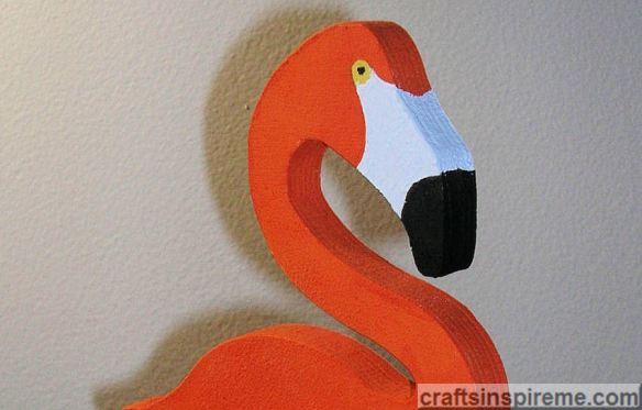 Acrylic Painted Flamingo