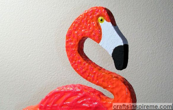 Acrylic Painted Flamingo Layered with 3D Texture
