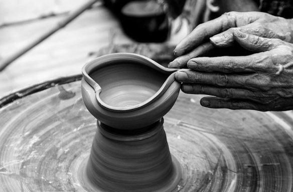 Clay Heart Vase