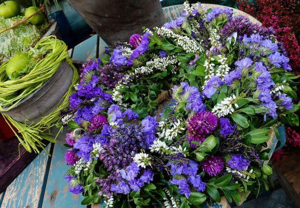 Purple Blue & Green Wreath